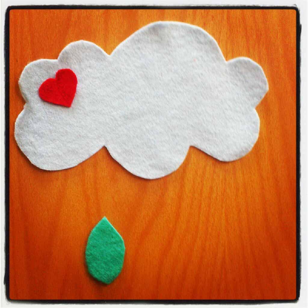 ♡ Tuto : mobile nuages en feutrine