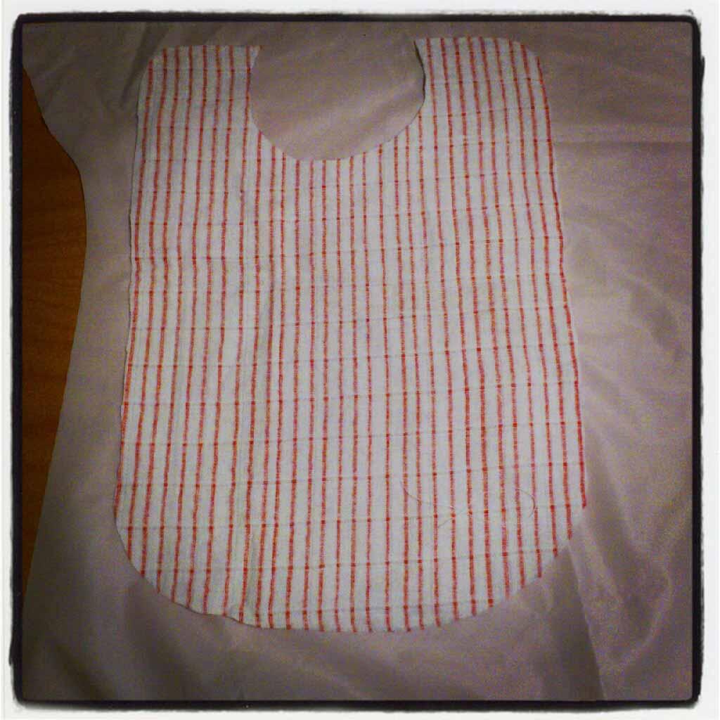 ♡ Tuto recyclage : Bavoir lange, tissus et elastiques  ♡ Tuto recyclage : Bavoir lange, tissus et elastiques