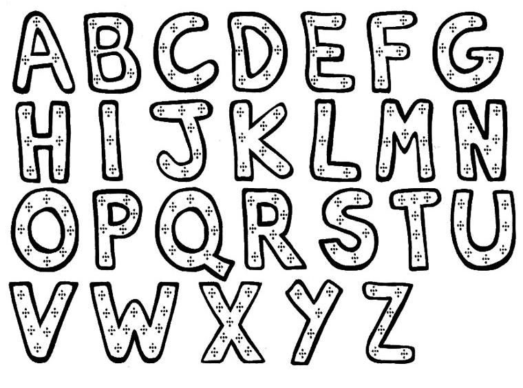 modele de lettre alphabet ♡ Tuto : l'alphabet en tissu | Tutos enfant – Babymeetstheworld  modele de lettre alphabet