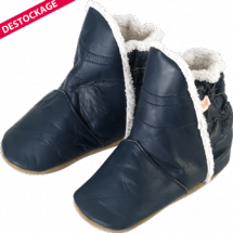 chaussons-bebe-cuir-souple-fourres-bottes-marine