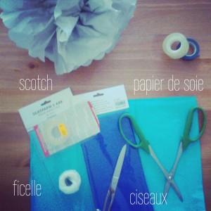 Tuto : Déco pompon en papier de soie
