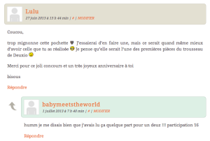 ♡ Pochette pour petits fouillis de maman ou trésors de bébé (CONCOURS)