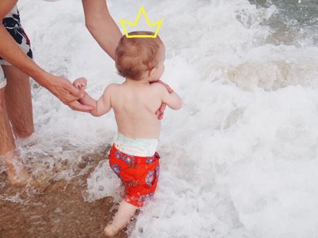 ♡ La toute première baignade dans la mer  ♡ La toute première baignade dans la mer  ♡ La toute première baignade dans la mer