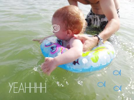 ♡ La toute première baignade dans la mer  ♡ La toute première baignade dans la mer