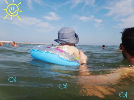 ♡ La toute première baignade dans la mer