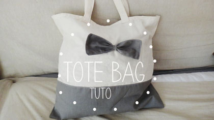 Tote bag noeud noeud