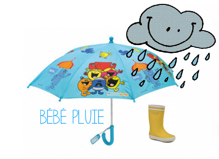 Bébé sous la pluie ☂