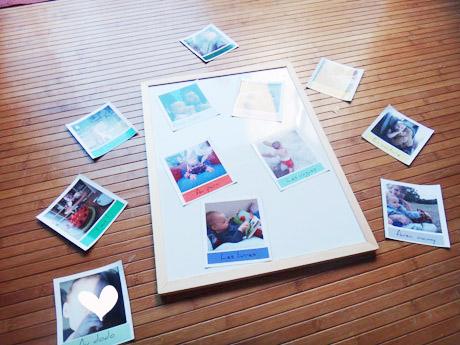 Tuto : magnets photo sur tableau magnétique !