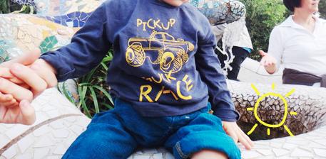 Un look de bébé au parc Güell  Un look de bébé au parc Güell  Un look de bébé au parc Güell