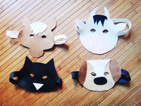 Masques animaux en feutrine