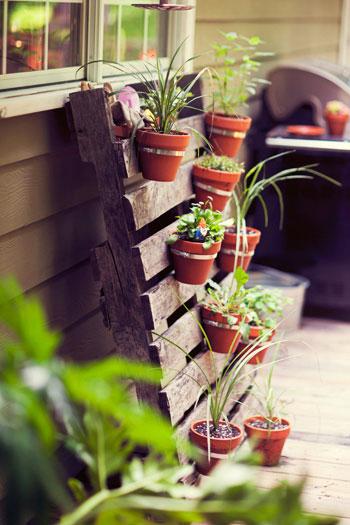 Une nouvelle terrasse avec des palettes
