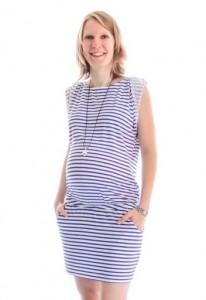 robe-de-grossesse-week-end-raye-blancbleu