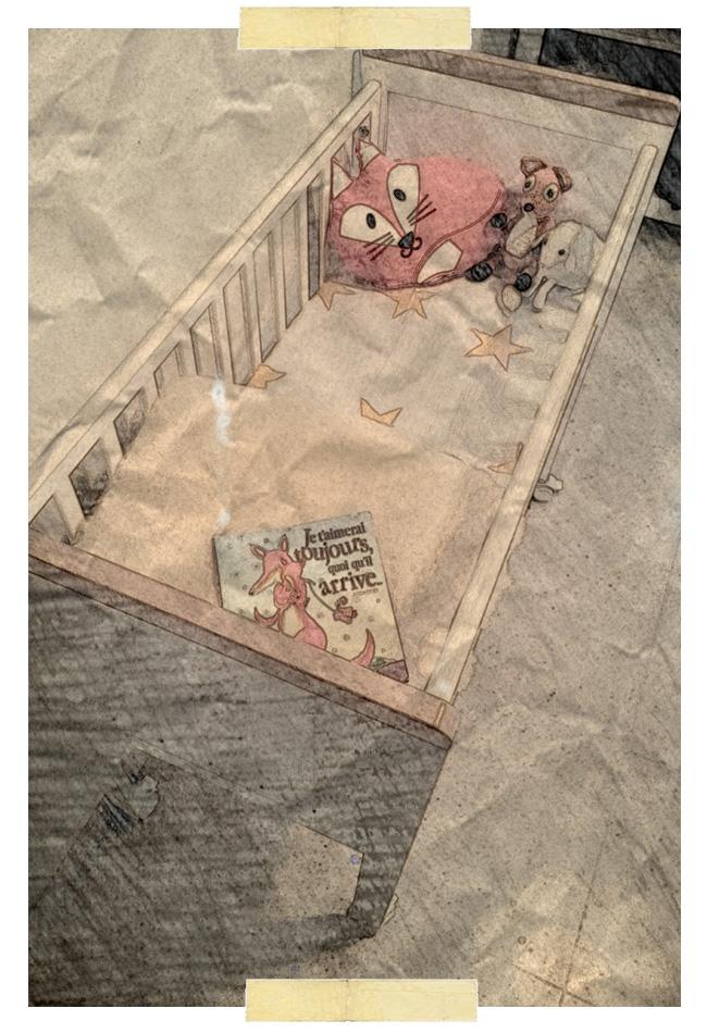 Préparation de la petite chambre de bébé