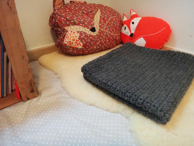 La petite couverture de bébé (tuto)