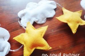 Tuto : Guirlande lumineuse nuages, étoiles et montgolfières