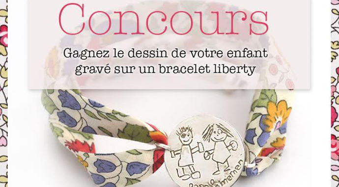 Bracelet personnalisable en liberty et argent