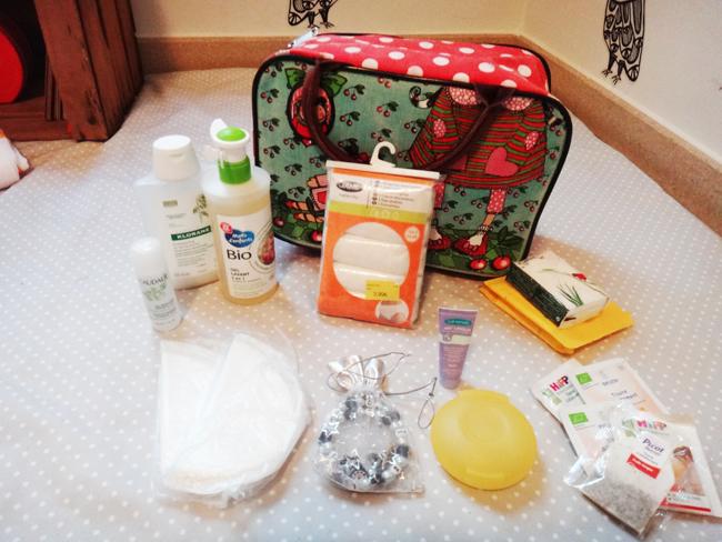 Dans mon sac pour la maternité