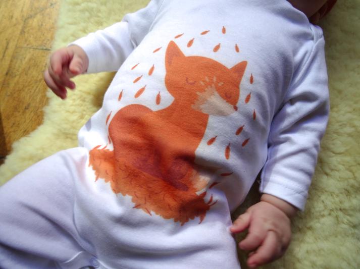 Passion renard avec Bébé Tshirt