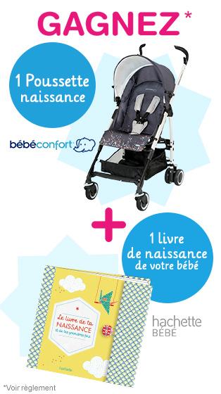 Poussette Bébé confort et 10 livres de naissance bébé  à gagner !