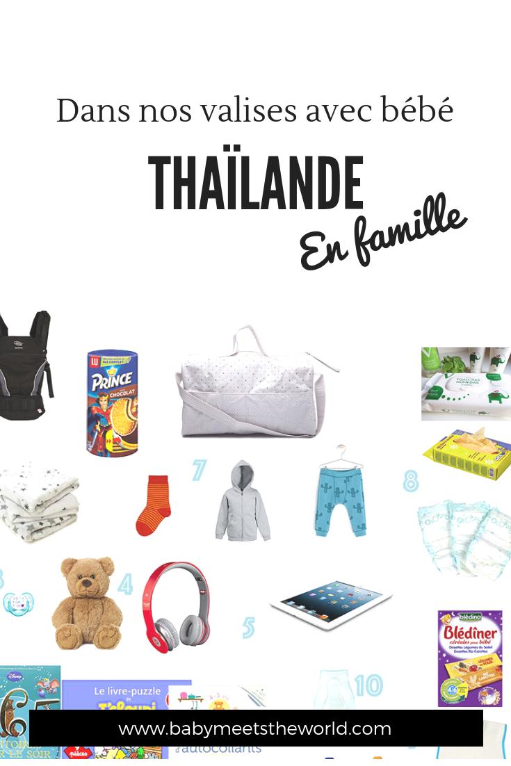 Dans nos valises pour la Thaïlande