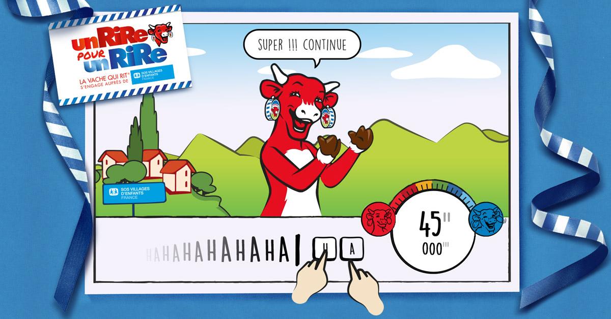 Faites rire La vache qui rit® pour la bonne cause  Faites rire La vache qui rit® pour la bonne cause  Faites rire La vache qui rit® pour la bonne cause