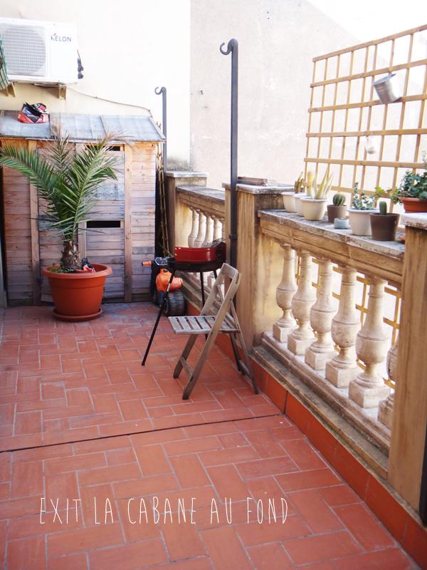 Notre petite terrasse à Barcelone
