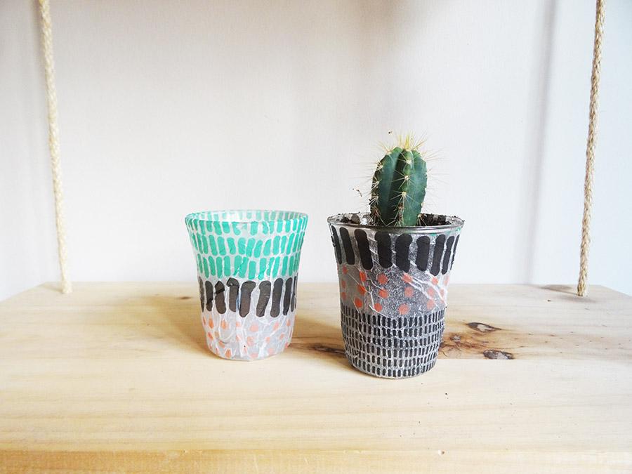 DIY : Photophore en serviette en papier