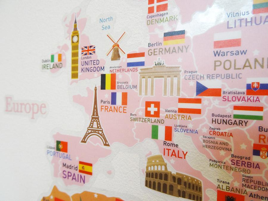 Découvrir le monde sur un mur  Découvrir le monde sur un mur