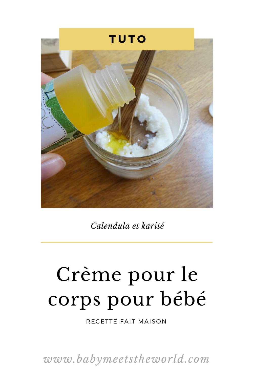 Recette : Crème pour le corps calendula et karité pour bébé