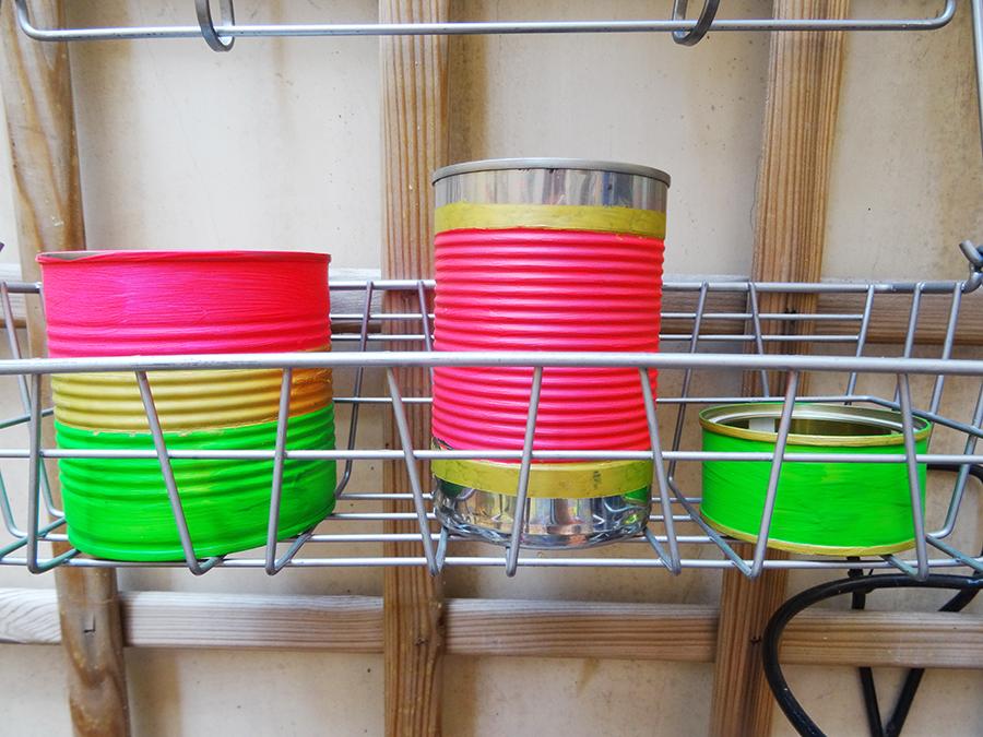 DIY : Petits pots à plantes et caissette en bois customisées