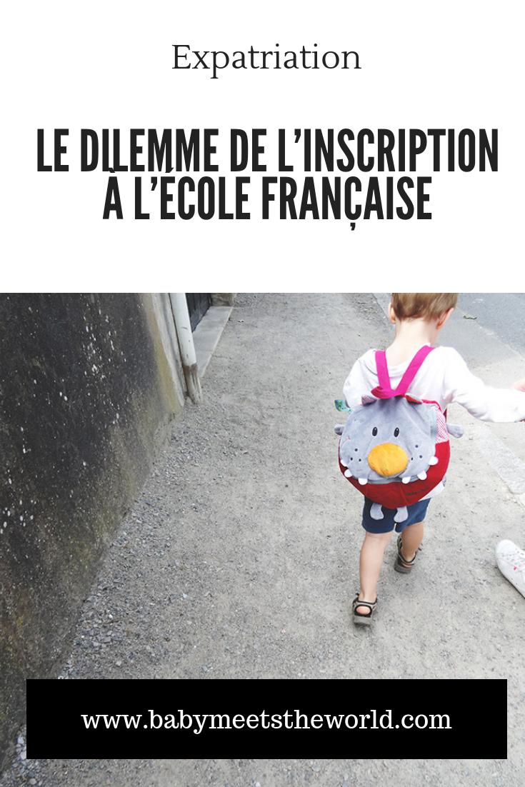 Le dilemme de l'inscription à l'école française