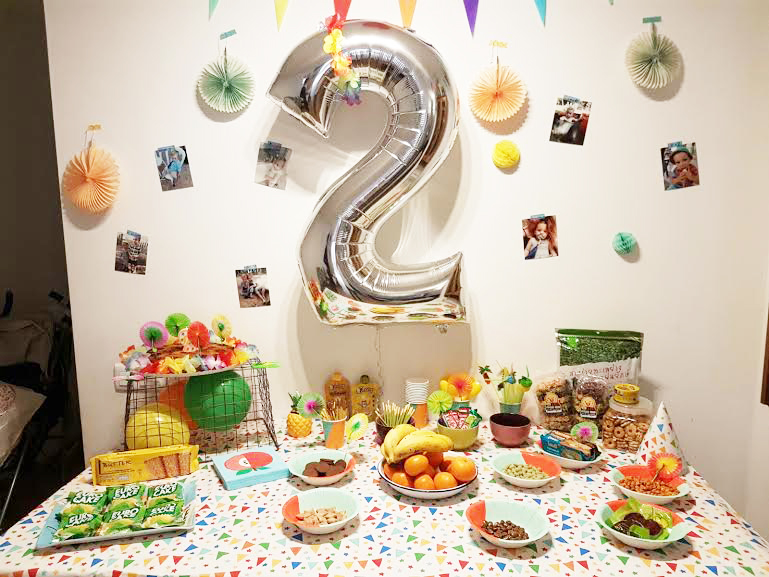 La fête d'anniversaire des deux ans de bébé luciole