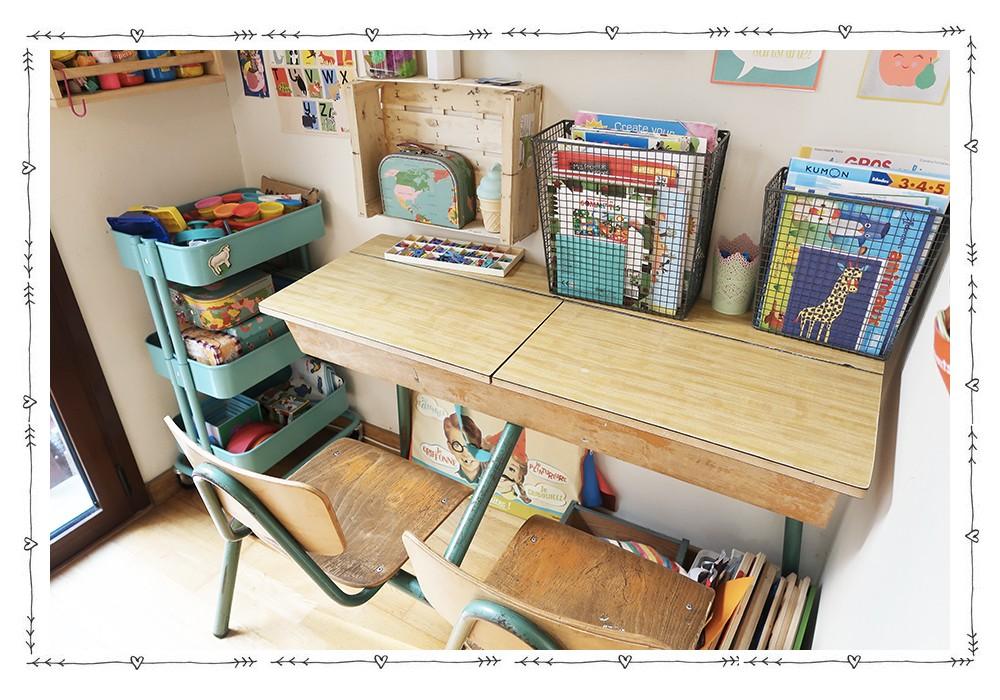 Un coin bureau enfant dans le salon  Un coin bureau enfant dans le salon