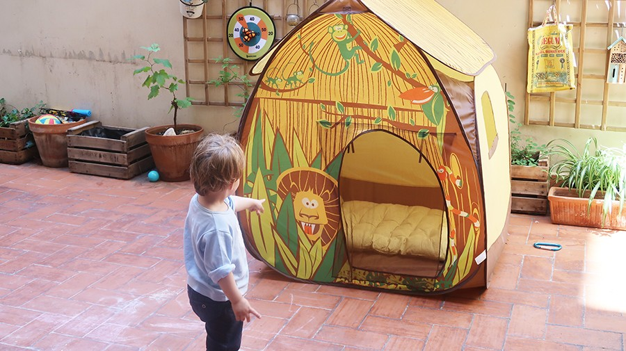 La cabane dans la terrasse