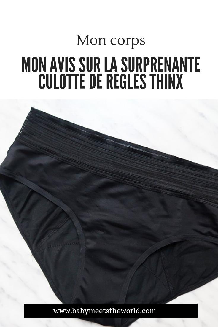 Mon avis sur la surprenante culotte de règles Thinx