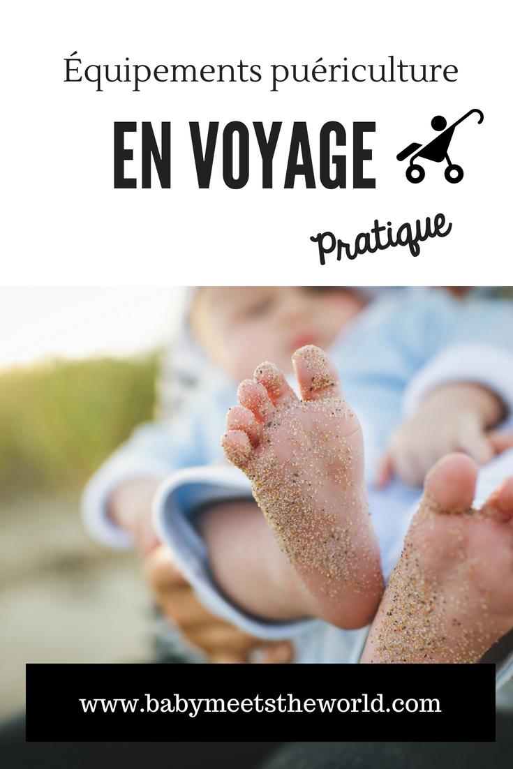 Equipements de voyage pratiques pour enfant et bébé