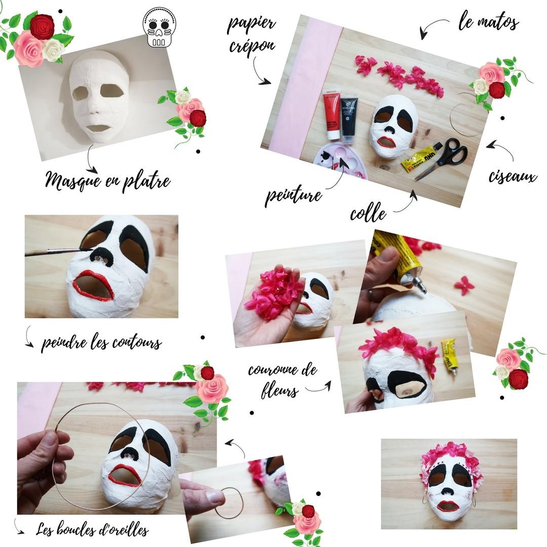DIY un masque squelette Coco Disney