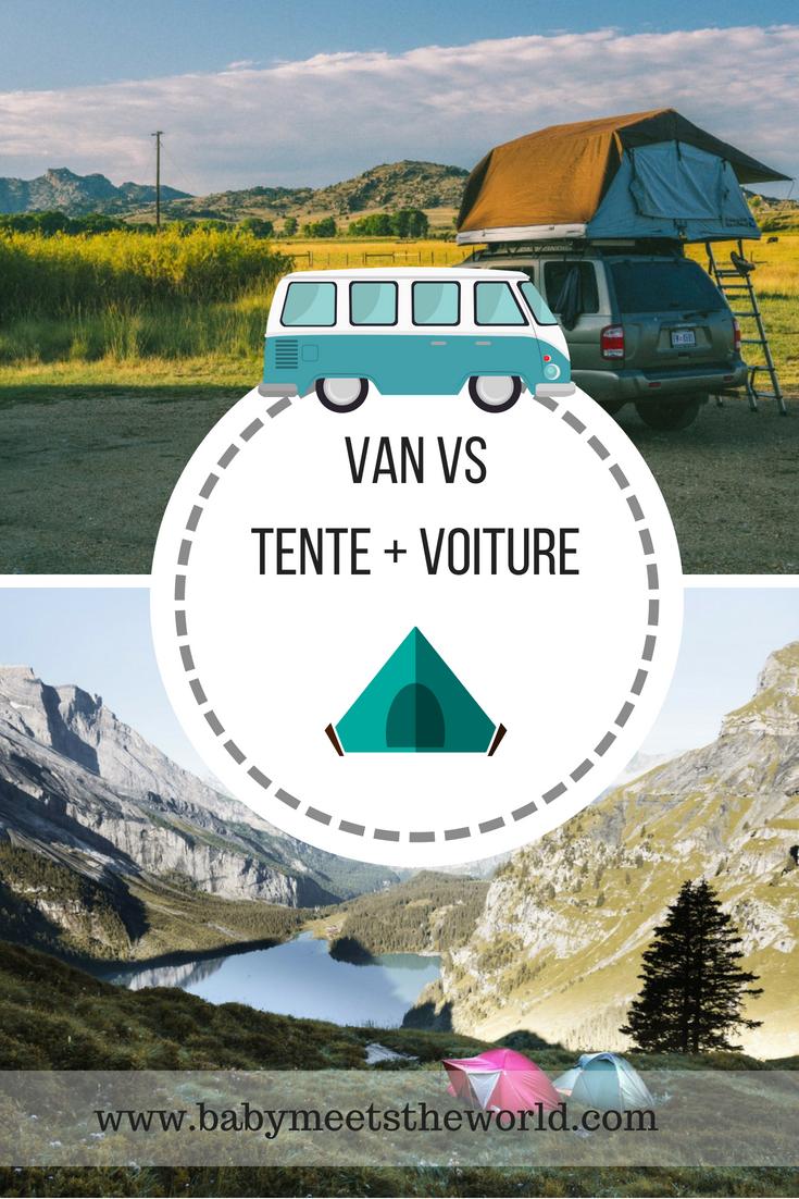 Un van ou une voiture avec une tente pour les vacances ?