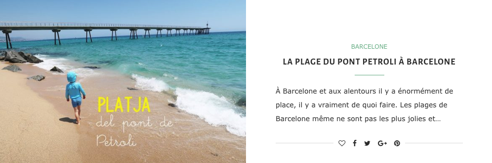 Les plages de Barcelone et aux alentours
