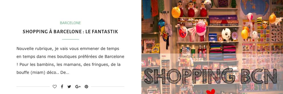 Boutiques coup de coeur à Barcelone
