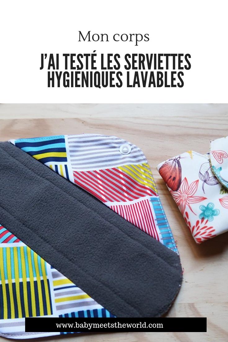 J'ai testé les serviettes hygiéniques lavables et je vous dis tout (enfin presque faut pas déconner !)