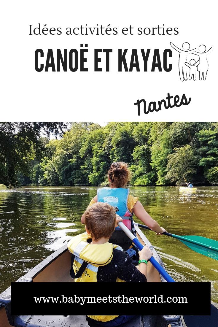 Nantes en famille : Faire du canoë / kayak  /barque / paddle