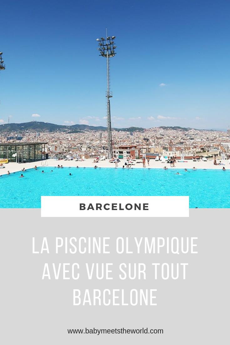 Le spot parfait en été : La piscine olympique du Montjuic à Barcelone