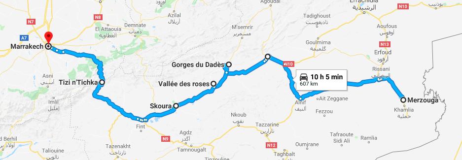 L'Itinéraire de notre prochain voyage en famille J-30 !
