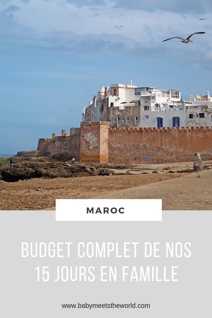 Budget complet de nos 15 jours au Maroc en famille