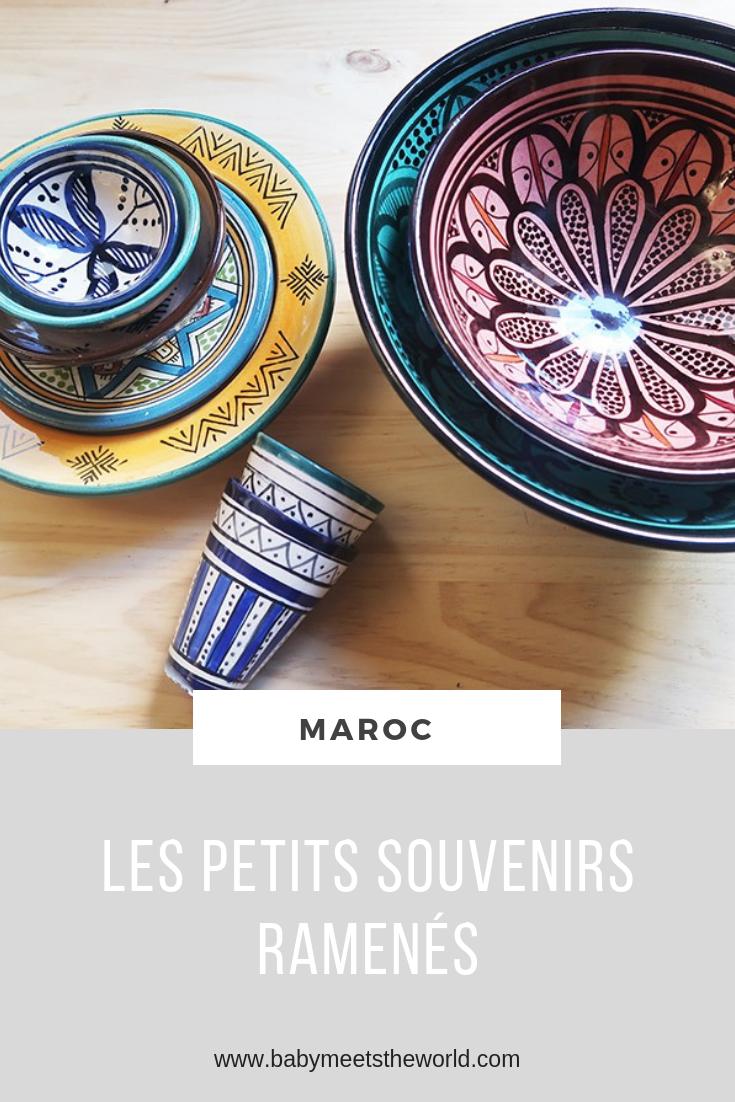 Nos petits souvenirs ramenés du Maroc