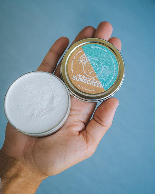 crème solaire organic reef safe