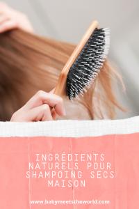 ingrédients pour shampoing sec