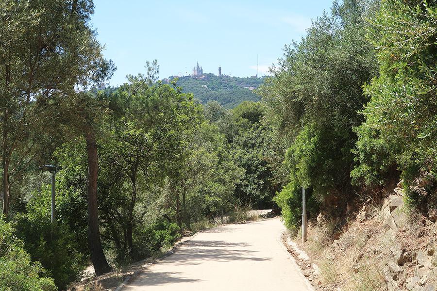 chemin de balade barcelone