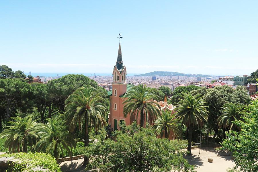 vue surprenante barcelone parc guell